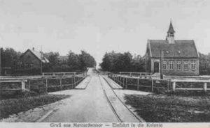 Einfahrt in die Kolonie - Gruß aus Marcardsmoor